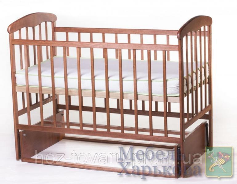 Детская кроватка Наталка без ящика темная с маятником - Кроватки для новорожденных, колыбели в Харькове