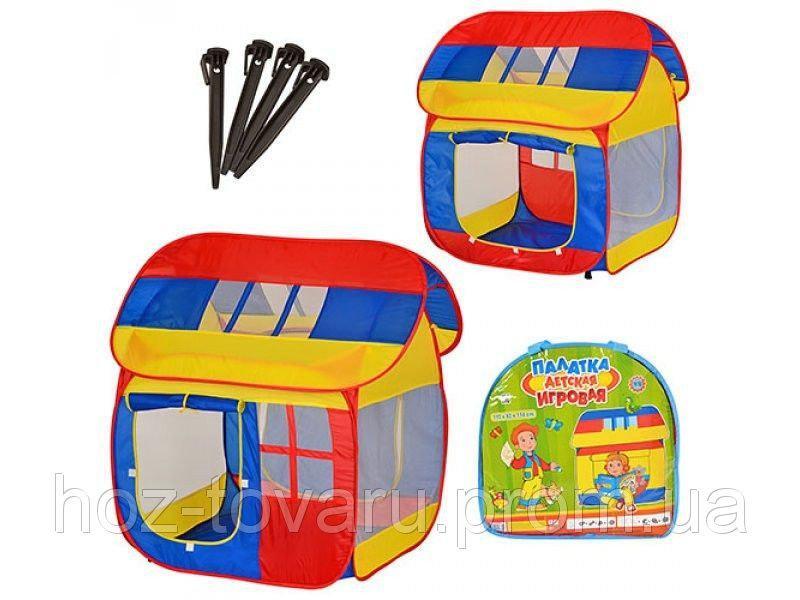 Детская палатка Домик с окнами 0508
