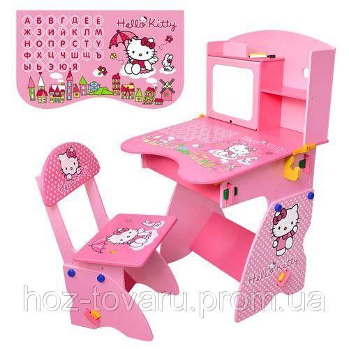Детская стол-парта со стульчиком Bambi М0324 Hello Kitty