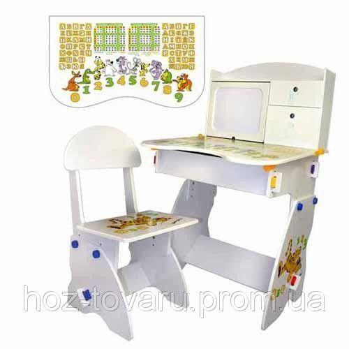 Детская стол-парта со стульчиком Bambi W072 белая