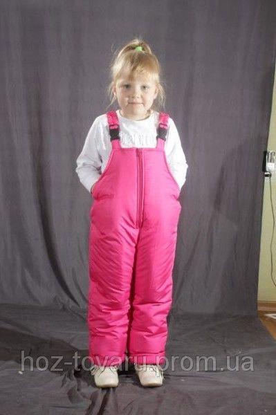 Детский зимний полукомбинезон Розовый