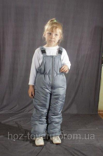 Детский зимний полукомбинезон Серый