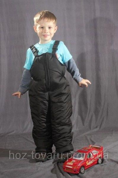 Детский зимний полукомбинезон Черный