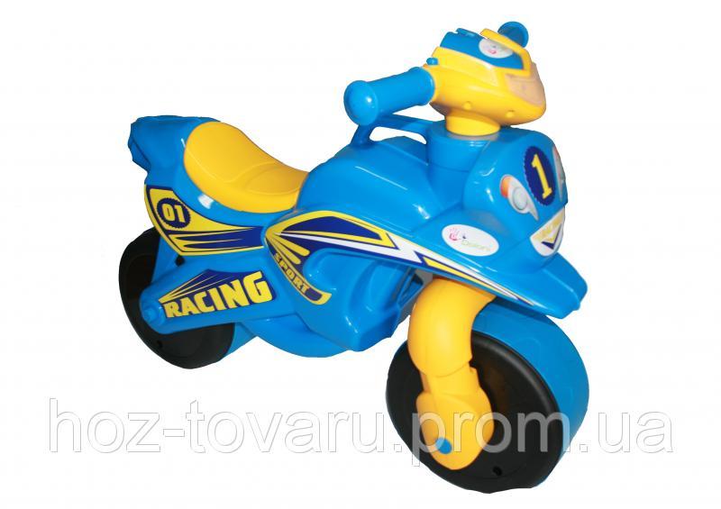 Детский музыкальный беговел Racing ТМ Doloni (Украина) (звук, свет) 5 цветов