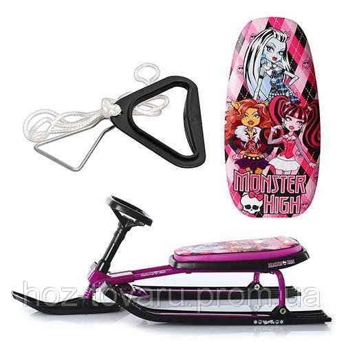 Детский снегокат для девочек Monster High Profi MS 0896