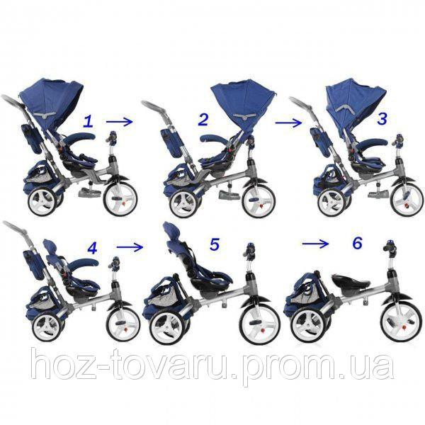 Детский трехколесный велосипед 6 в 1 Azimut Modi T500 (3 цвета)