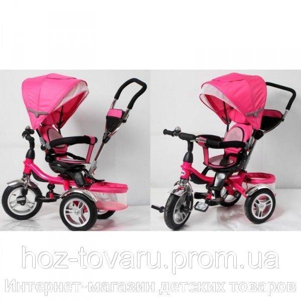 Детский трехколесный велосипед Cobra Trike TR16001 розовый, надув колесо, поворот сидение
