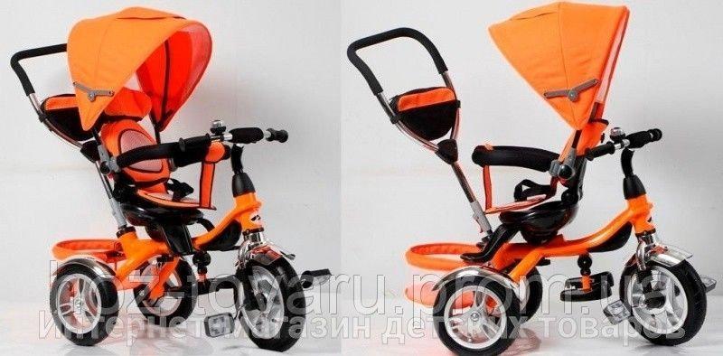 Детский трехколесный велосипед Cobra Trike TR16004 оранжевый, надув колесо, поворот сидение
