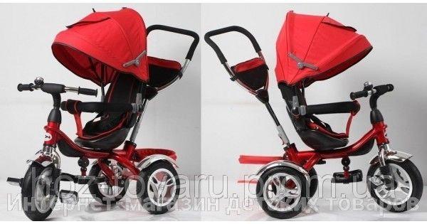 Детский трехколесный велосипед Cobra Trike TR16009 красный, надув колесо