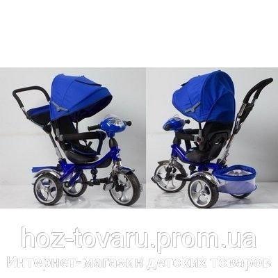 Детский трехколесный велосипед Cobra Trike TR16013 синий, надув колесо