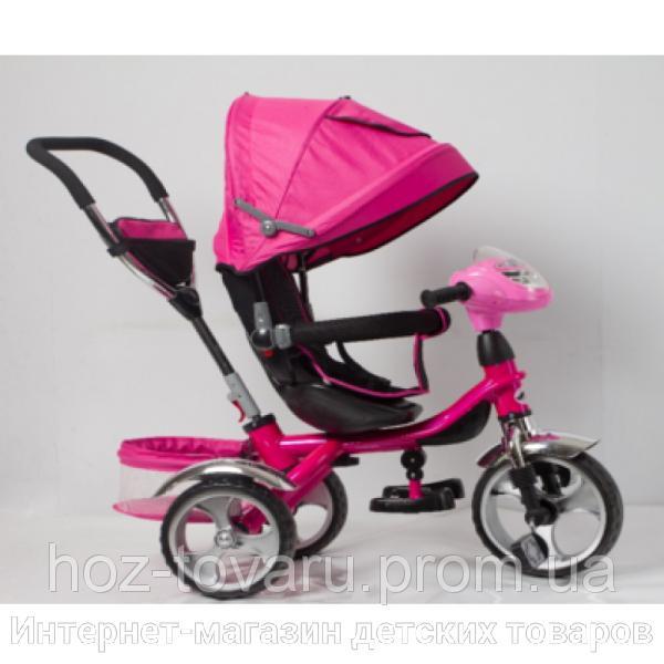 Детский трехколесный велосипед Cobra Trike TR16015 розовый, надув колесо