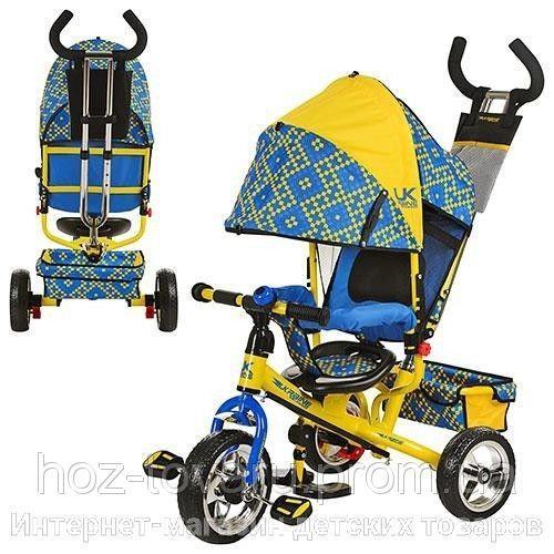 Детский трёхколёсный велосипед LE-3-02UKR Profi Trike, колеса EVA
