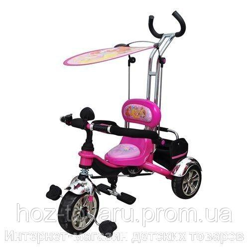 Детский трехколесный велосипед M 5339 Винкс, колеса EVA