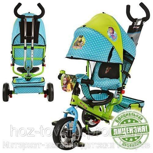 Детский трехколесный велосипед MM0156 Маша и Медведь (2 цвета)