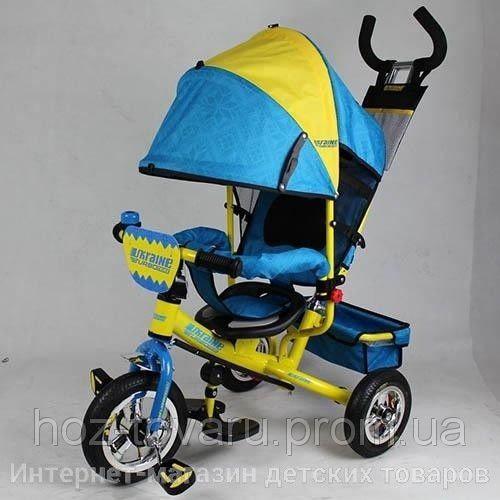 Детский трехколесный велосипед Turbo Trike M5361UKR надувные резиновые колеса (2 цвета)