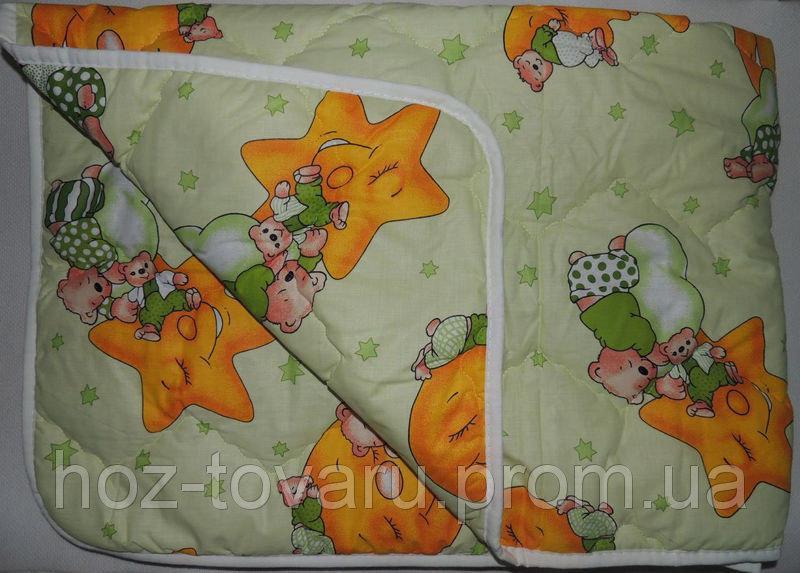 Детское одеяло стеганное Мишки горох (141Х144) разные цвета