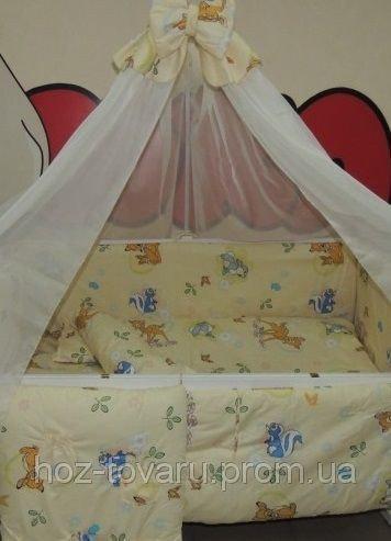 Детское постельное белье в кроватку бежевое Бэмби Bonna 9 в 1