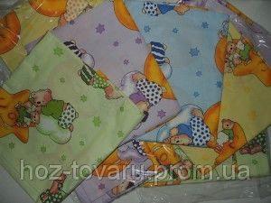 Детское постельное белье для садика 3 в 1,  110х140 см. расцветки в ассортименте.