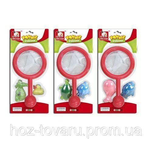 Игрушка для ванной Сачек с животными 3 вида S+S toys EQ 80151-3 R
