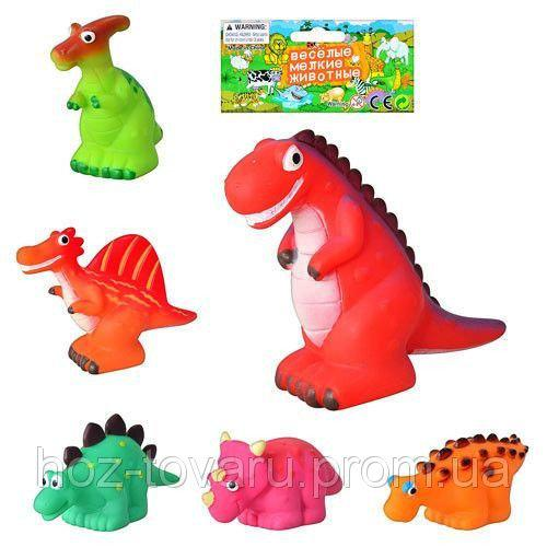 Игрушка-пищалка для купания Динозавр 6 видов Р 1201-6