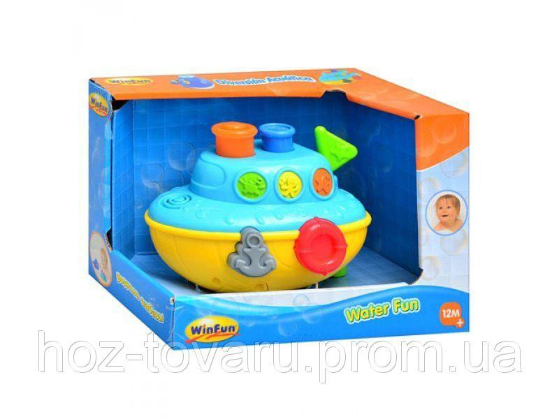 Игрушка-брызгалка для купания Корабль WinFun 7106 NL