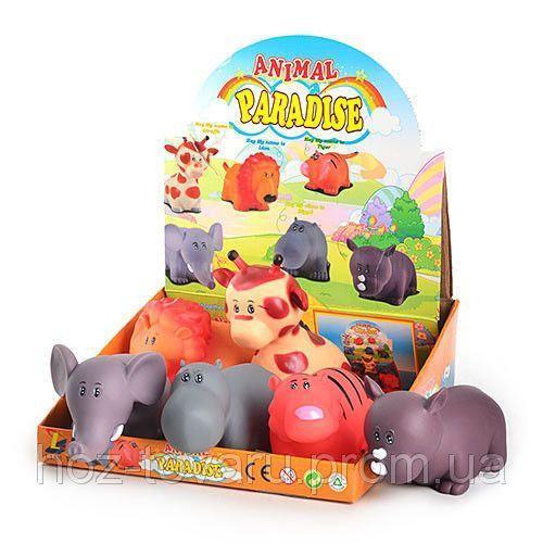 Игрушки-пищалки Африканские животные 6 штук Lian Tai LT 313