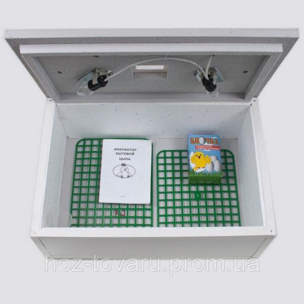 """Инкубатор для яиц """"Цыпа"""" ИБР-100 (пластиковый корпус) с ручным переворотом (ручной терморегулятор)"""