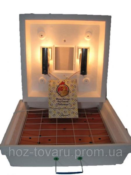 Инкубатор Рябушка-2 на 70 яиц, ламповый, электронно-механический терморегулятор, механический переворот