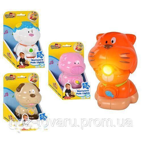 Интерактивная игрушка-фонарик Животные 4 вида Hep-p-kid 3851-4 T