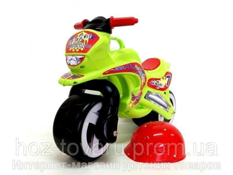 Каталка Мотоцикл с каской 11-007 Киндервей