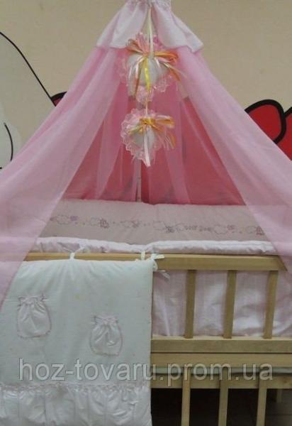 Комплект детского постельного белья Bonna Мишки Дети розовый