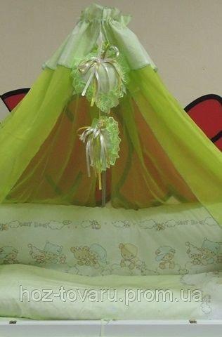 Комплект детского постельного белья Bonna Мишки Дети салатовый