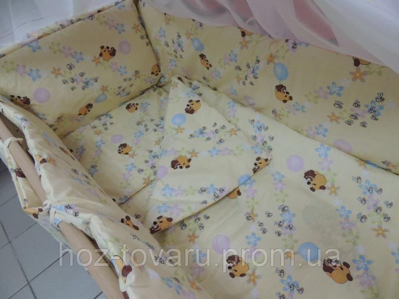 Комплект постельного белья в кроватку 9 в 1 Gold Винни-Пух бежевый