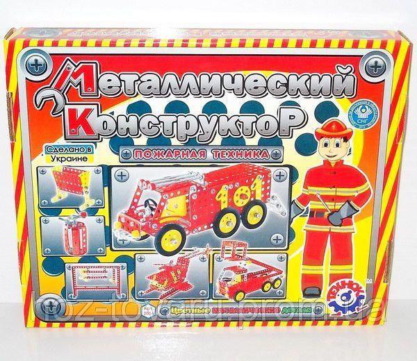 Конструктор металлический Пожарная техника 215 деталей ТехноК 2056