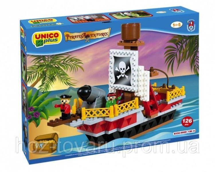 Конструктор Пиратский корабль 126 деталей Unico Plus 8536-0000