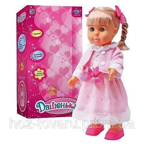 Кукла M 0588 U/R Дашенька, реагирует на хлопок, говорит, ходит