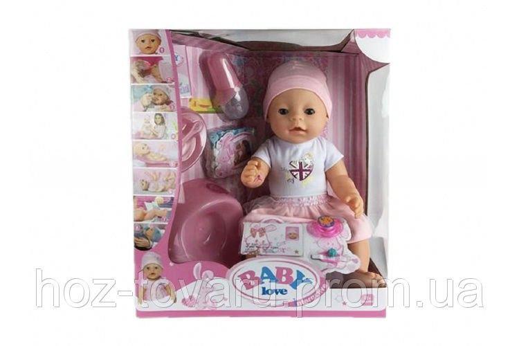 Кукла-пупс Baby Born (копия), платье с шапочкой, полный к-т. BL012B
