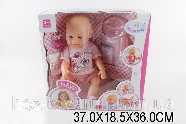 Кукла-пупс Baby Born (копия), розовая футболка и шорты, полный к-т. BB 8009-434A