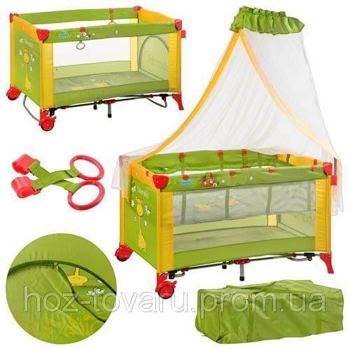 Манеж - кровать с балдахином Bambi M2707