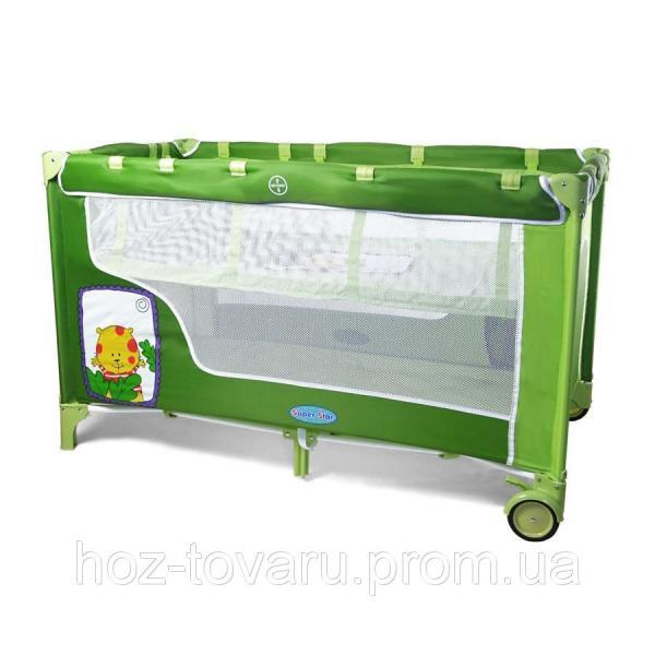 Манеж-кровать BT-016-SLC GREEN