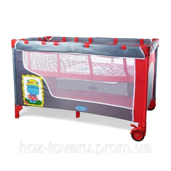 Манеж-кровать BT-016-SLC RED