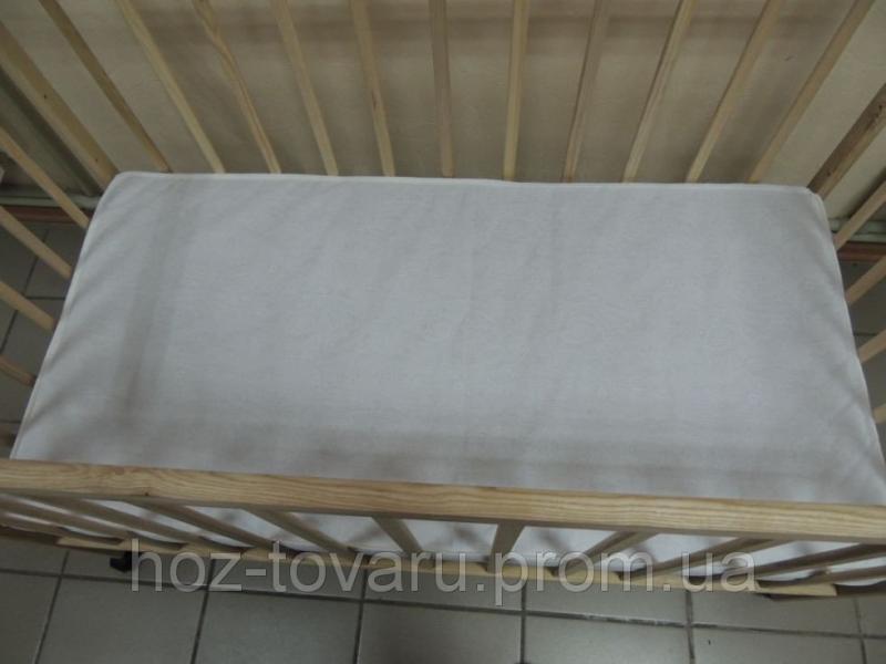 Матрасик в кроватку 3-х слойный КПК (кокос-поролон-кокос)