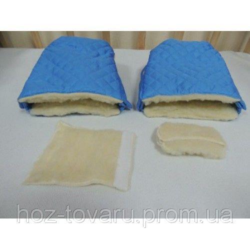 Муфта-рукавицы на детскую коляску и санки (2 цвета)