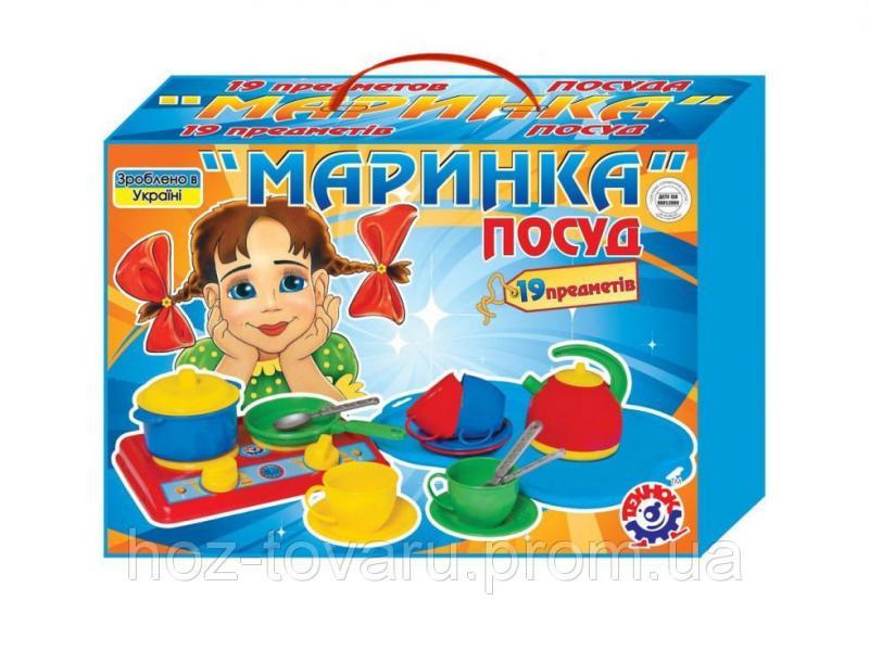"""Набір посуду """"Маринка""""  в коробці ТехноК 1554"""