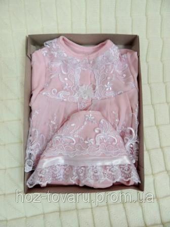 """Набор для девочки (розовый и молочный) ТМ """"Lari"""""""