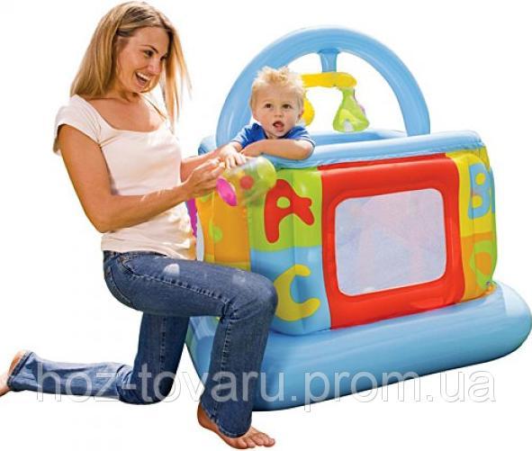 Надувной детский манеж - батут Intex (48473)