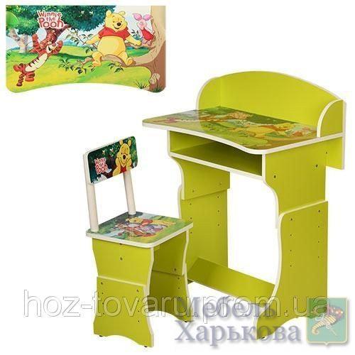 Парта регулируемая со стульчиком Винни Пух 301-6 - Парты детские в Харькове