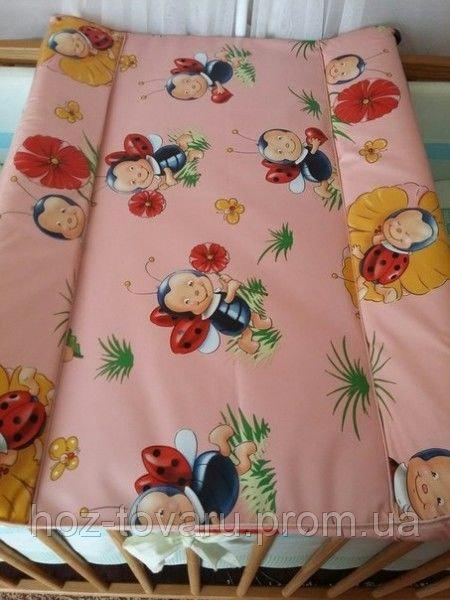 Пеленатор на кроватку Розовый Божьи коровки