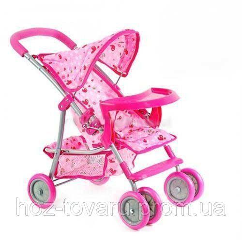 Прогулочная детская коляска для кукол металлическая 9304 BWT