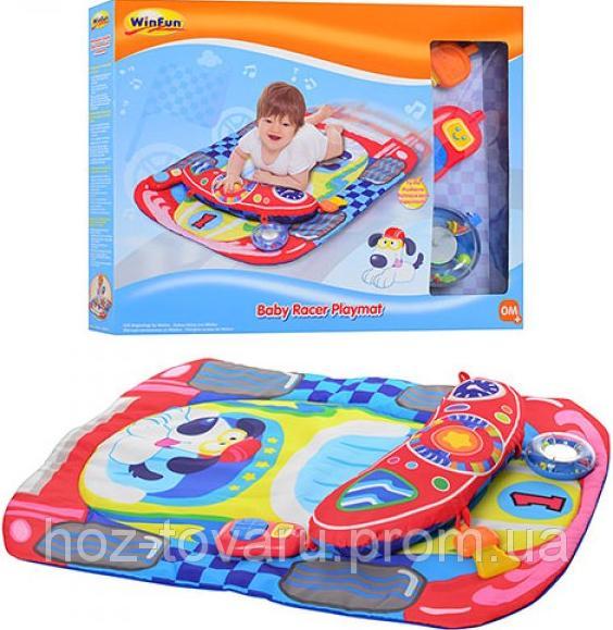 """Развивающий коврик для младенца WinFun """"Автогонщик"""" (0832-NL)"""